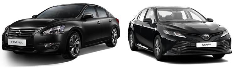 Nissan Teana и Toyota Camry