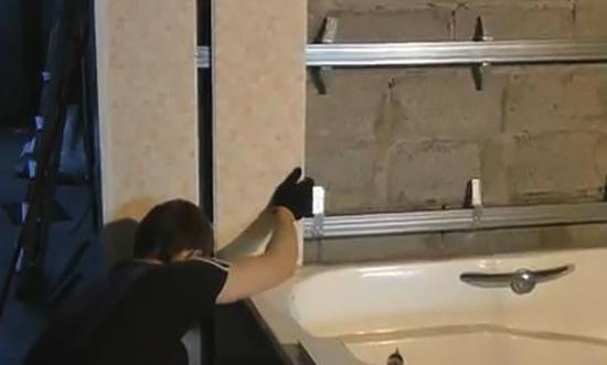 Установка ПВХ в ванной