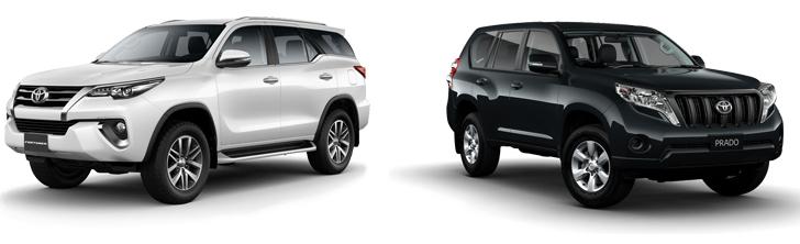 Toyota Fortuner и Prado