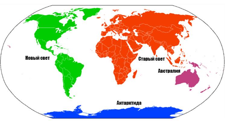 4 континента