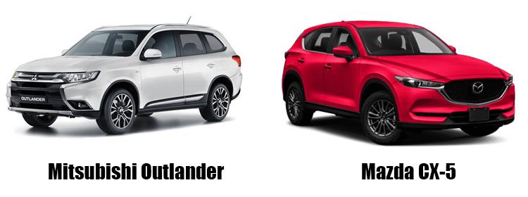Mitsubishi Outlander и Mazda CX-5