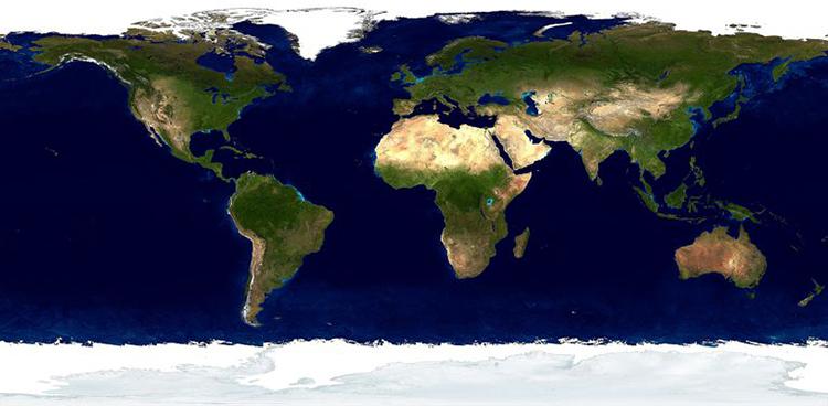 Панорама материков и континентов