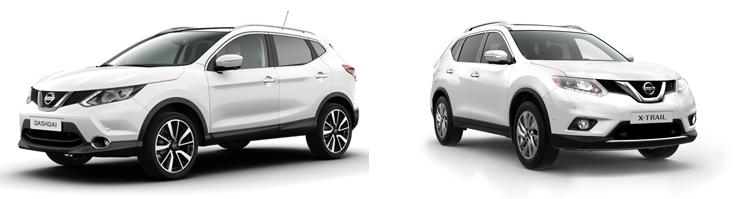 Nissan Qashqai и Nissan X-Trail