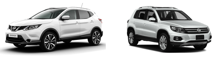 Nissan Qashqai и Volkswagen Tiguan