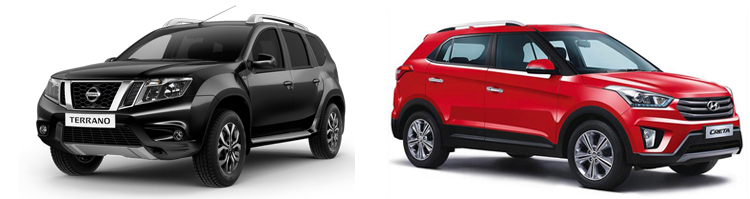 Nissan Terrano и Hyundai Creta