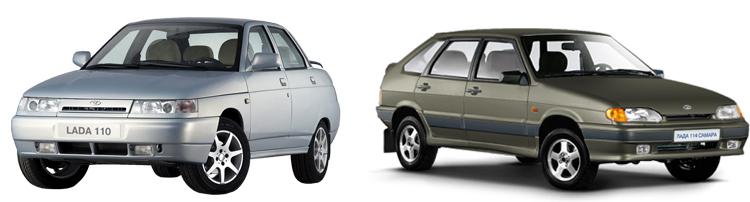 ВАЗ-2110 и 2114