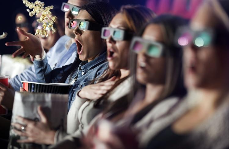 Зрители в 3D очках