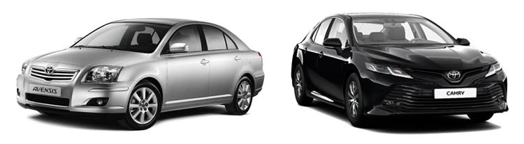 Toyota Avensis и Camry