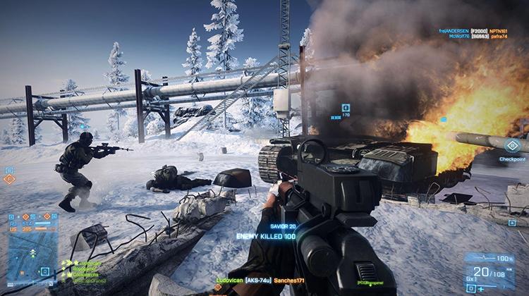 Игра в Battlefield 4