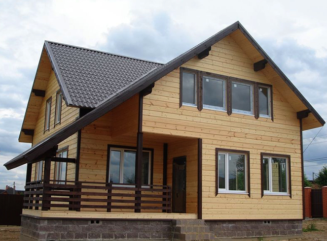 Готовый каркасный дом