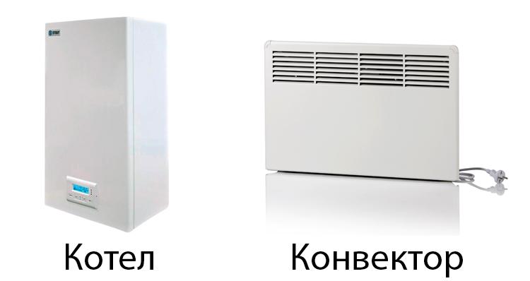 Котел и конвектор