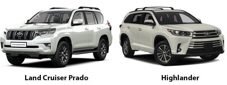 Toyota Land Cruiser Prado и Toyota Highlander