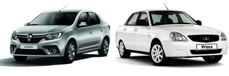 Renault Logan и Lada Priora