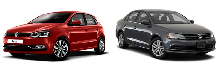 Volkswagen Polo и Volkswagen Jetta