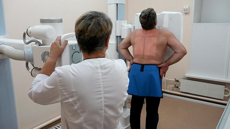 Проведение рентгена легких