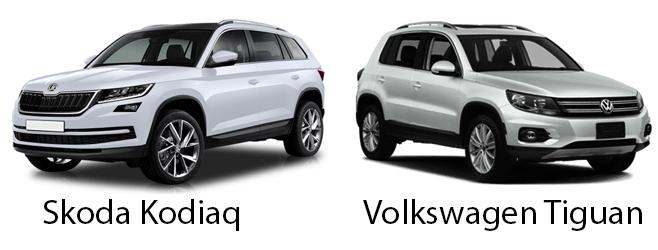 Skoda Kodiaq и Volkswagen Tiguan