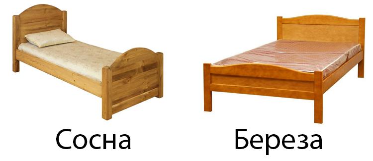 Кровати из сосны и березы