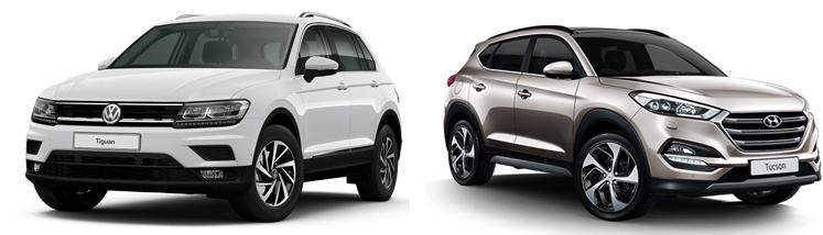 Volkswagen Tiguan и Hyundai Tucson