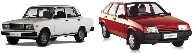 ВАЗ 2107 и ВАЗ 2109