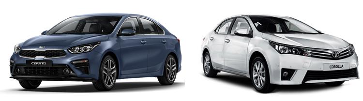 KIA Cerato и Toyota Corolla
