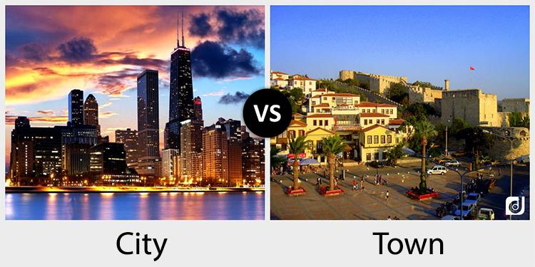 City и Town