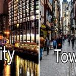 Разница между словами city и town