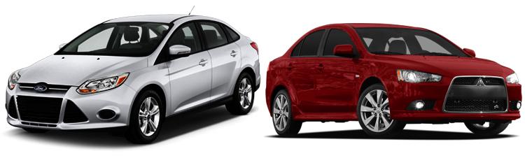 Ford Focus и Mitsubishi Lancer