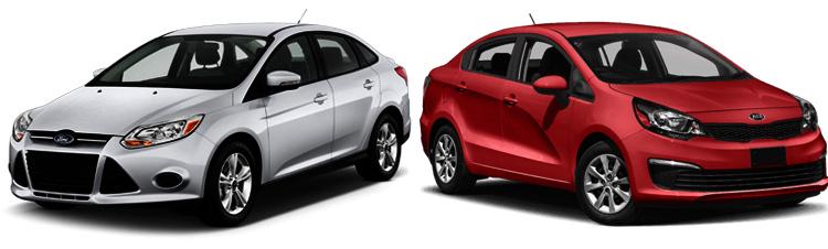 Ford Focus и Kia Rio