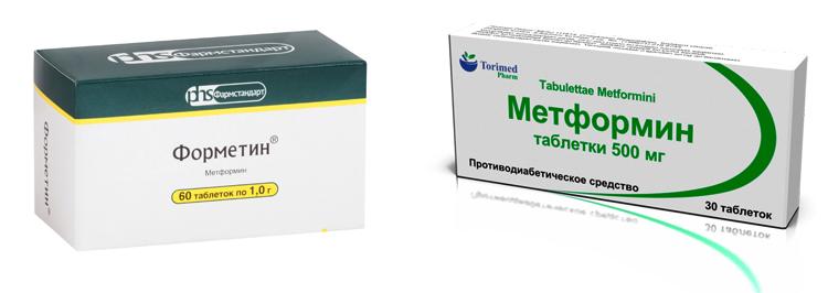 «Форметин» и «Метформин»