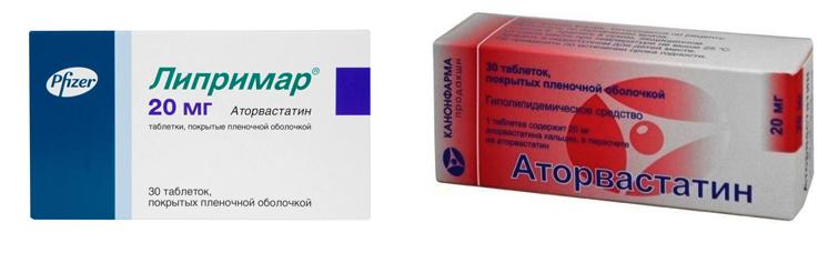 «Липримар» и «Аторвастатин»