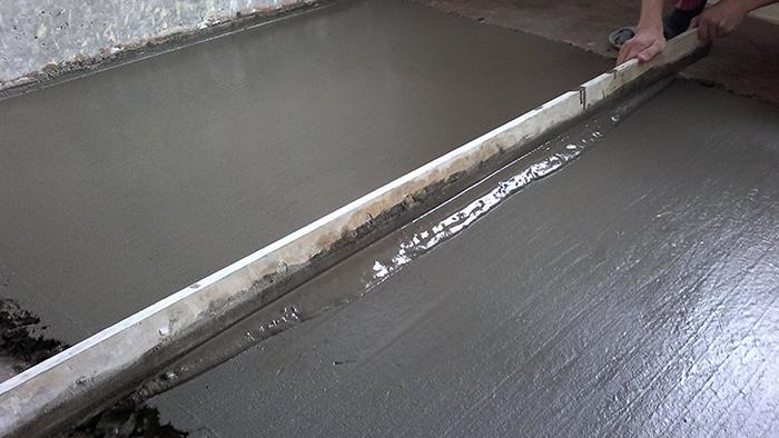 Процесс мокрой стяжки