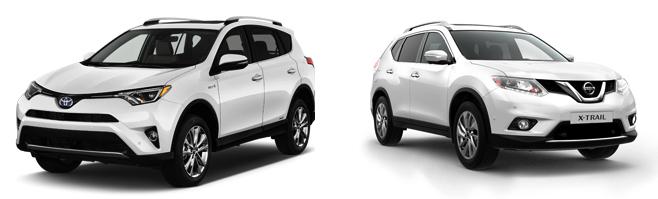 Toyota RAV4 и Nissan X-Trail