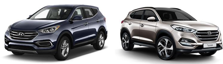 Hyundai Santa Fe и Tucson