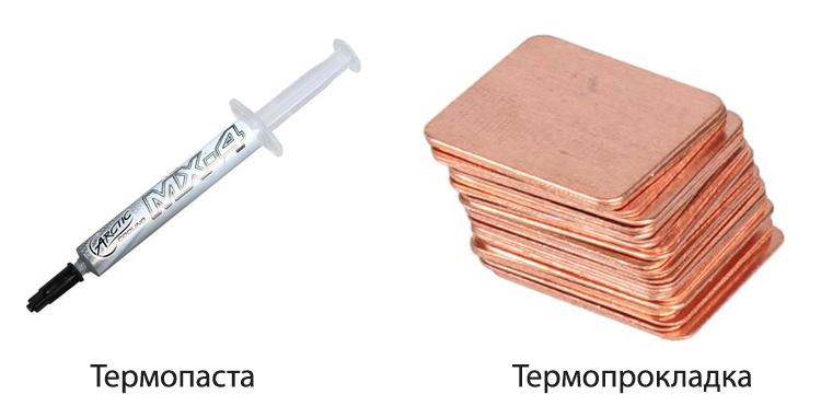 Термопаста и термопрокладка