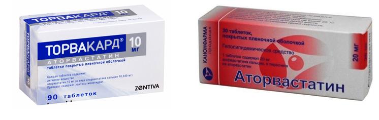 «Торвакард» и «Аторвастатин»
