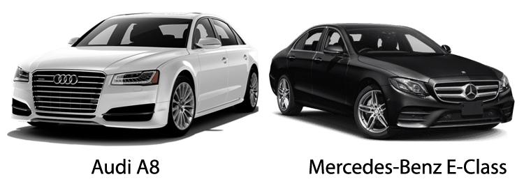 Audi A8 и Mercedes-Benz E-Class