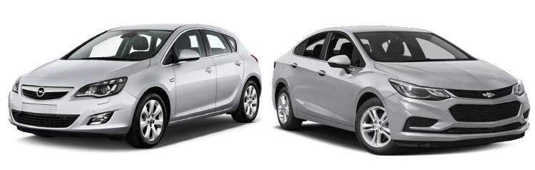 Opel Astra и Chevrolet Cruze