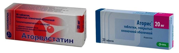 «Аторвастатин» и «Аторис»