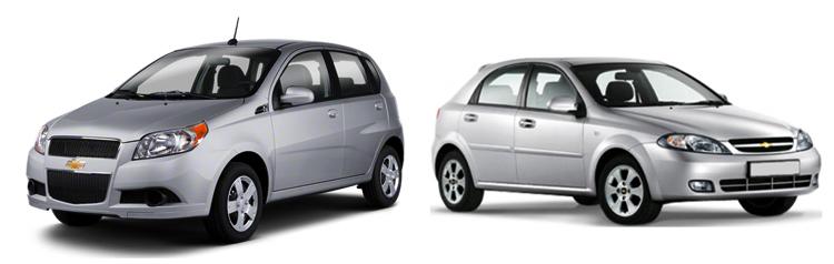 Chevrolet Aveo и Lacetti