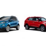 Ford EcoSport или Hyundai Creta — сравнение автомобилей и что лучше
