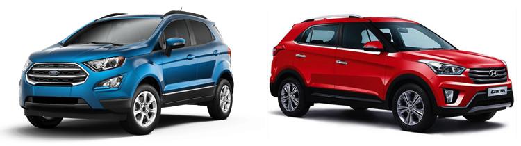 Ford EcoSport и Hyundai Creta