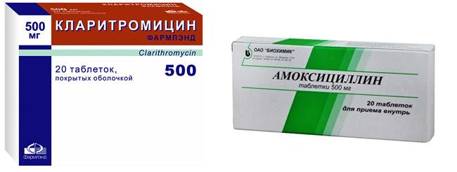 Кларитромицин и Амоксициллин