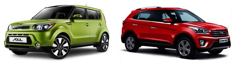KIA Soul и Hyundai Creta