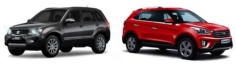 Suzuki Grand Vitara и Hyundai Creta