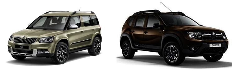 Skoda Yeti и Renault Duster