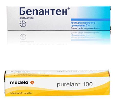 «Бепантен» и «Пурелан»