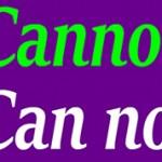 В чем разница между cannot или can not