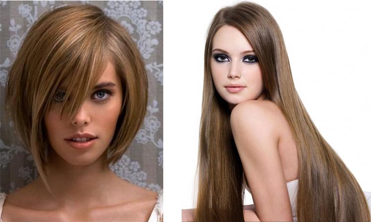 Каре и длинные волосы