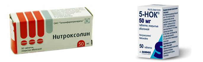«Нитроксолин» и «5-НОК»
