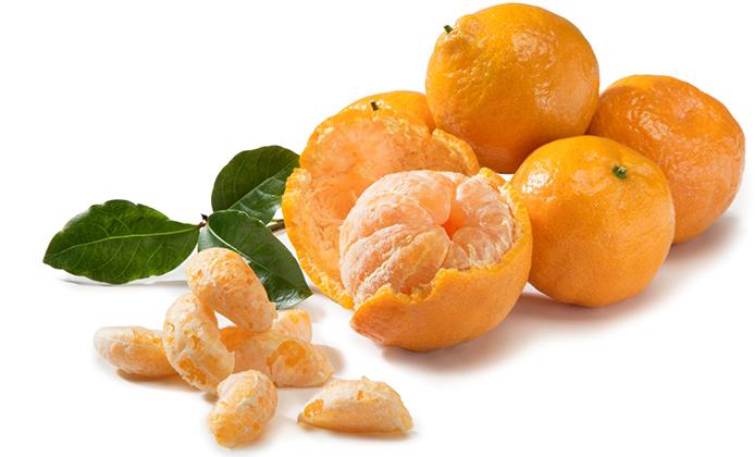 Свежые мандарины